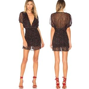Free People Baby Love Smocked Bodycon In Blk Combo